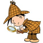 Detektiv sucht nach etwas