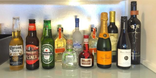 mini-bar booze