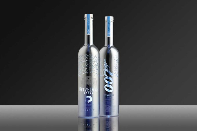 Belvedere silver saber james bond 007 bottle