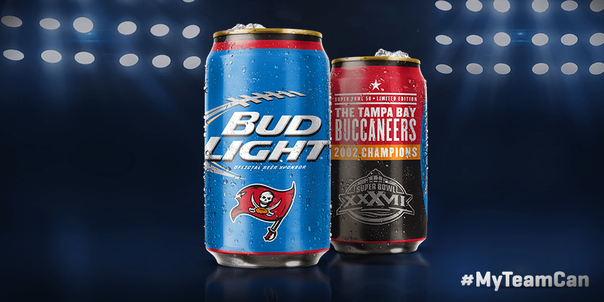 Buccaneers Super Bowl Cans