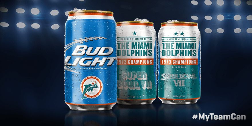 Dolphins Super Bowl  Cans