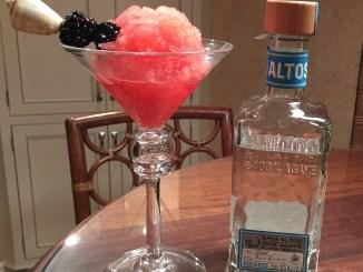 Frozen Blackberry Mint Margarita