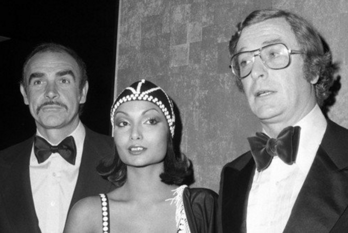 Michael & Shakira Caine with Sean Connery