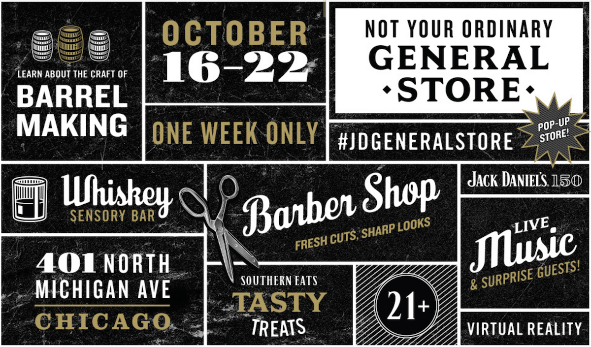 Jack Daniels General Store pops up in Chicago