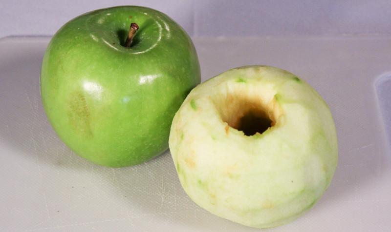 boozy apple dumpling coring