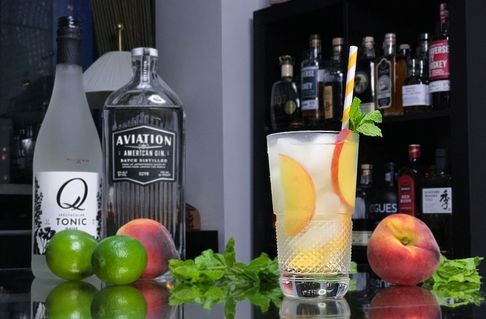 Aviation and Tonic Peach Boozist