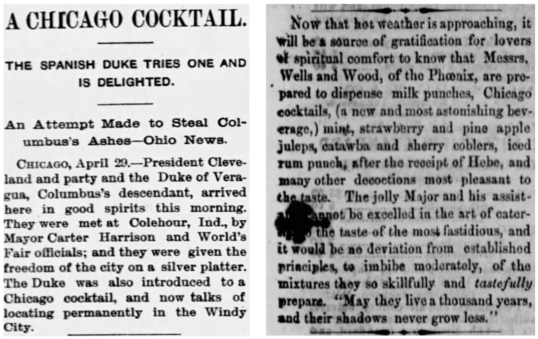 chicago cocktail newspaper