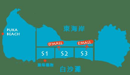 長灘島最合適的住宿區域地圖