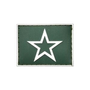 Aluno do Curso de Formação de Oficiais Gola Exército emborrachado verde com branco