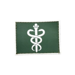 Dentista Gola Exército emborrachado verde com branco