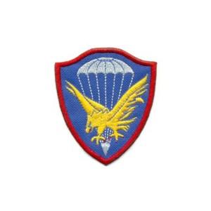 Brasão Brigada de Infantaria Paraquedista bordado antigo