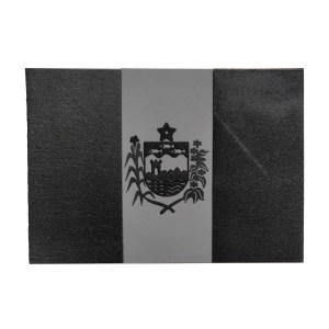 Bandeira do Alagoas, emborrachada, preto com cinza