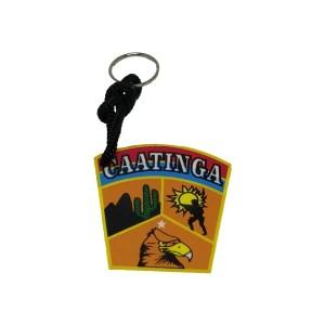 Chaveiro Caatinga emborrachado colorido.