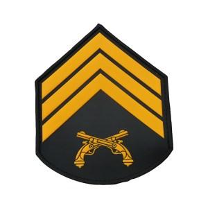 Divisa braço 3º Sgt PMERJ emborrachada cinza (par)