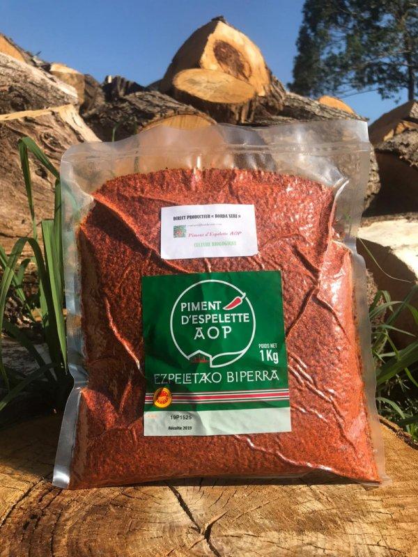 poudre de piment d'Espelette AOP BIO - 1kg