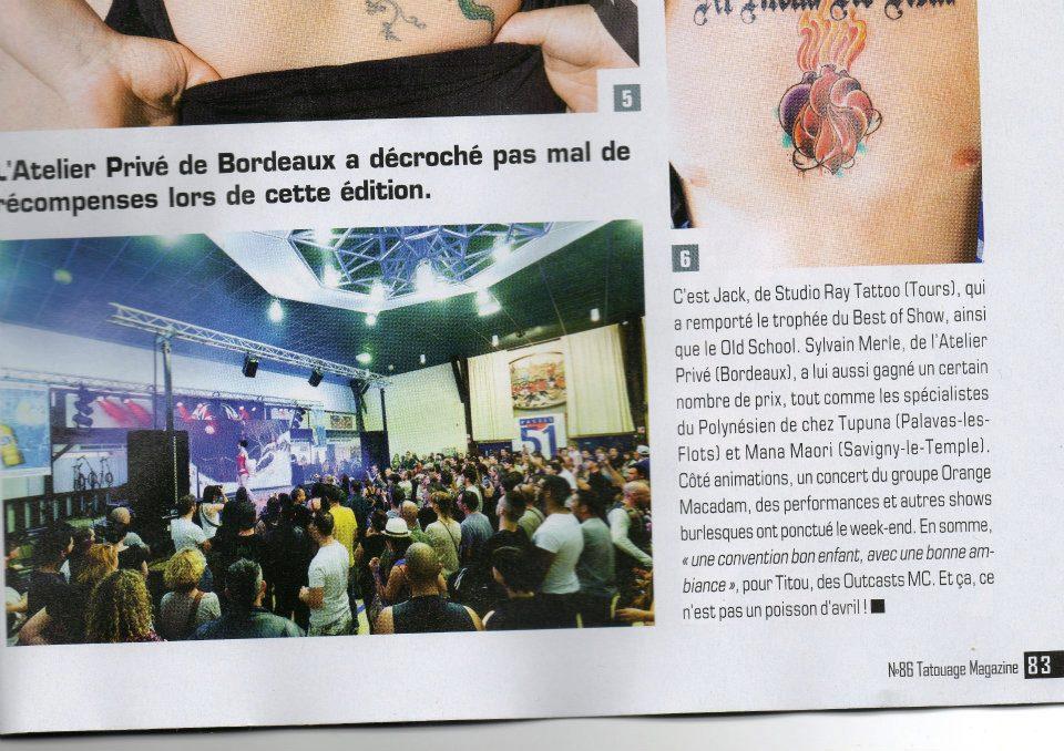 Tatouage Magazine à la convention du tattoo