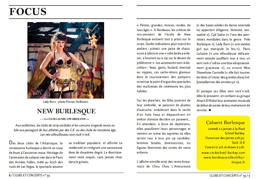 Clubs et Concerts n°59 : Focus sur le BCB
