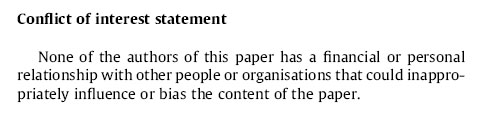 Conflict of Interest Statement  None of the authors of this paper has a financial or personal relationship with other people or organisations that could inappropriately influence or bias the content of the paper.