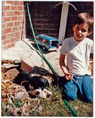 Me with Sassy, March 1986