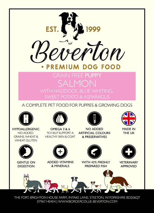 Beverton Puppy – Salmon With Haddock & Blue Whiting, Sweet Potato And Asparagus
