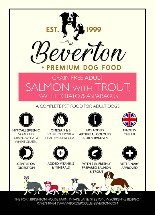 Beverton Adult – Salmon With Trout, Sweet Potato & Asparagus