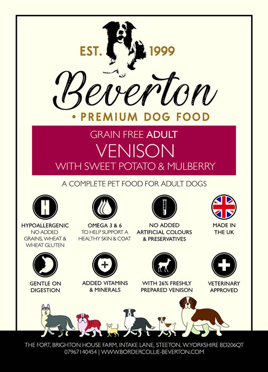Beverton Adult – Venison, Sweet Potato & Mulberry