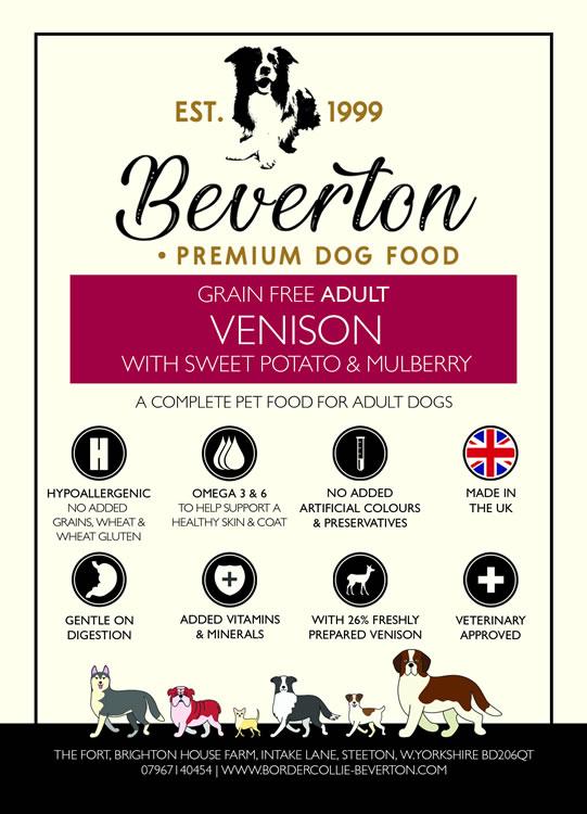 Beverton Adult - Venison, Sweet Potato & Mulberry