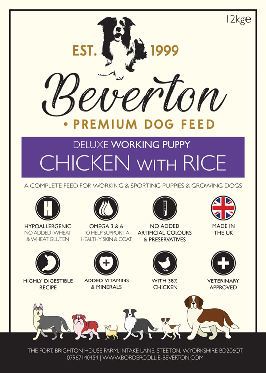 Beverton Deluxe Working Puppy – Chicken & Rice