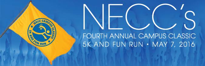 NECC Campus Classic 5K and Fun Run on May 7