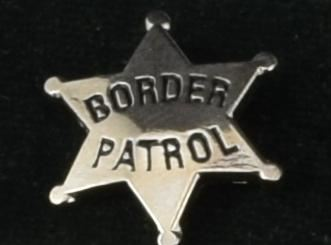 Border Patrol Star Lapel Pin Si - Pins / Charms