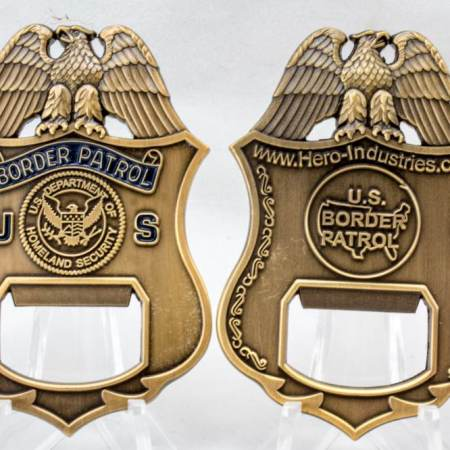 USBP BADGE BOTTLE OPENER-SEAL - Coins