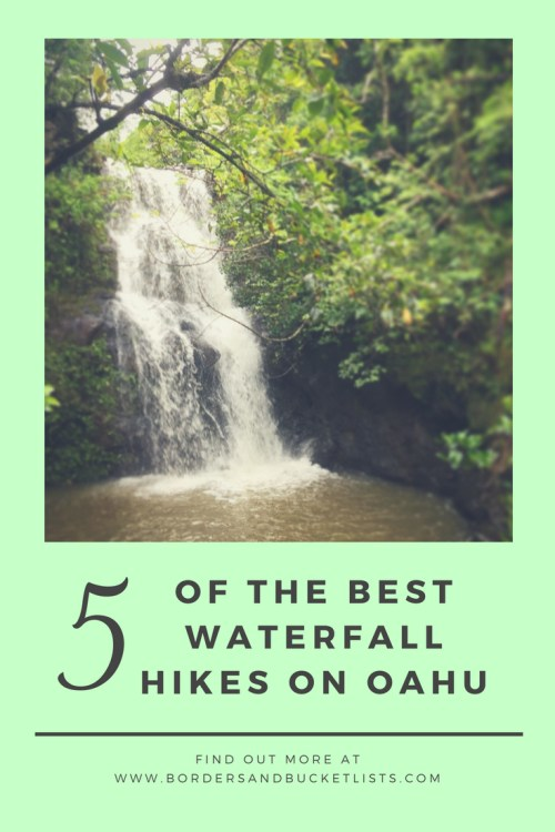 Five of the Best Waterfall Hikes on Oahu #oahu #hikes #hawaii #waterfall #oahuhike #oahuwaterfall