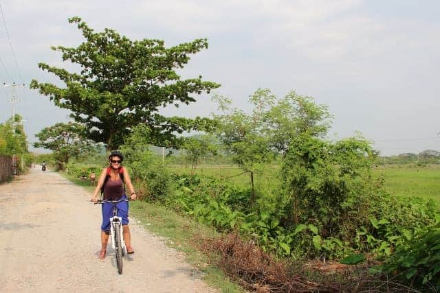 Biking in Mandalay