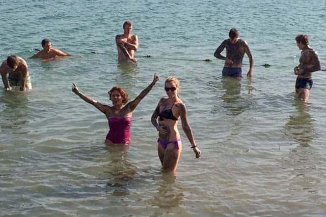 the Dead Sea, Israel side