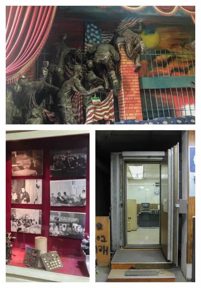 Inside the former US Embassy is Tehran, Iran. Den of Espionage