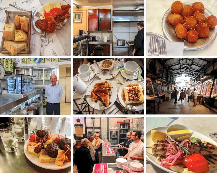Food walking tour in Athens