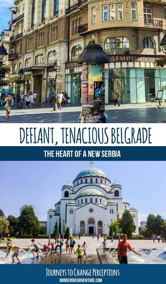 Travel in Belgrade, Serbia. Pin.