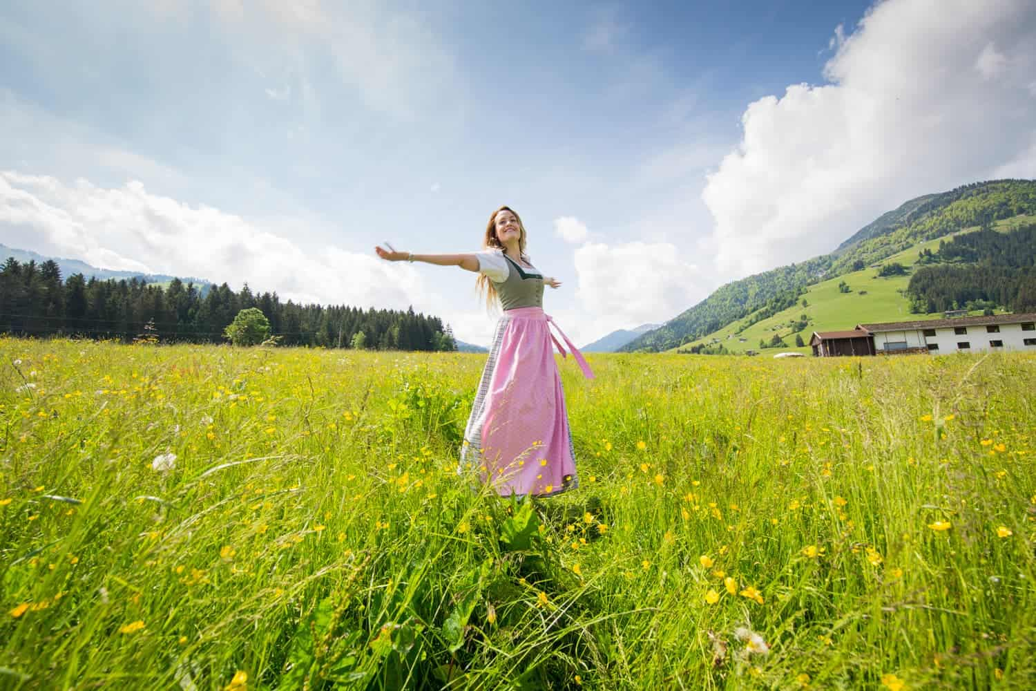 Becki Enright reenacting Sound of Music. Photo: Christian Lendl