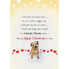 Border Terrier Christmas Card