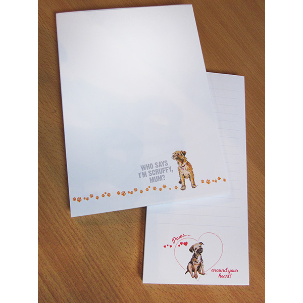 Special pack of 2 Border Terrier Notepads