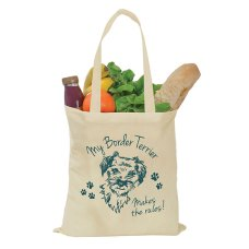 Louis Border Terrier Cotton Shopper
