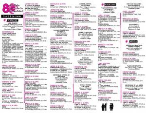 Programa Nacional del ciclo de cine de la Diversidad