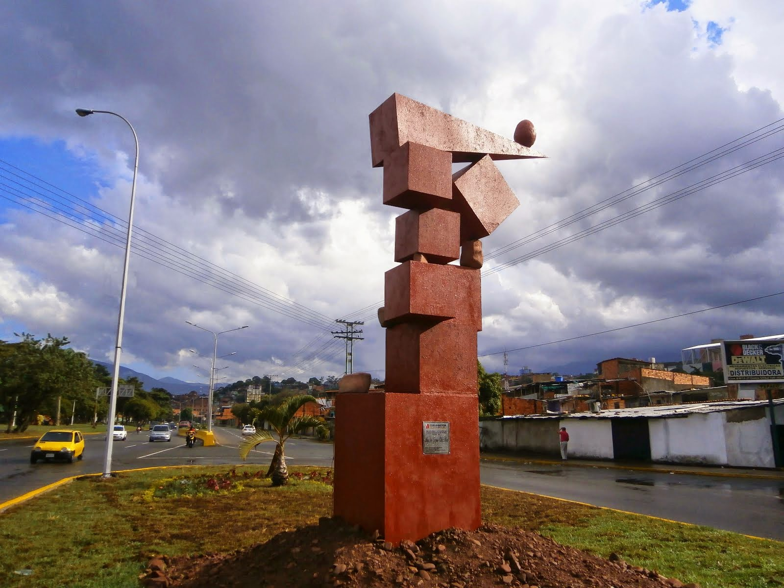 San Cristóbal en el Borde de una exposición al aire libre