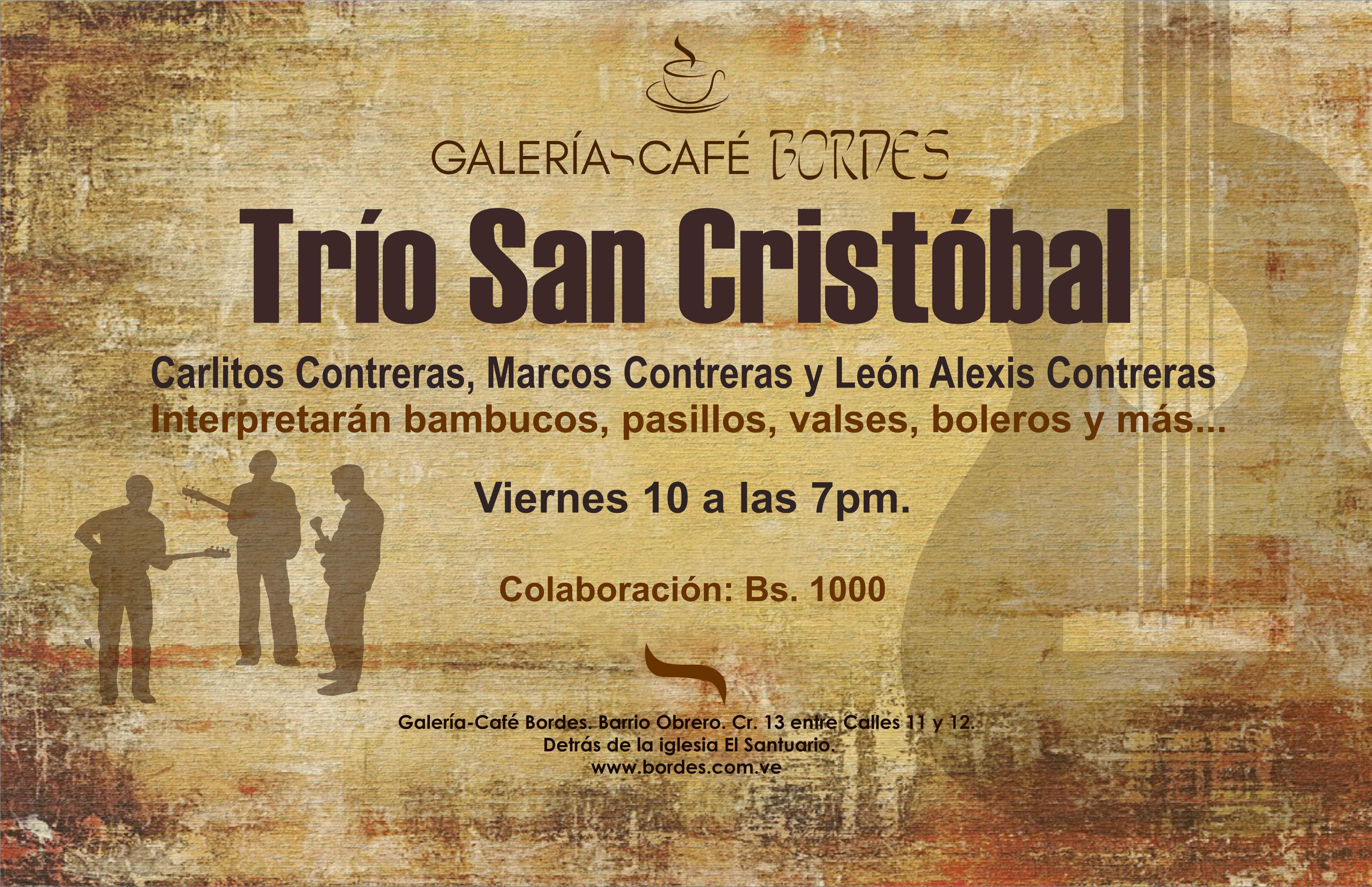 carteles bordes trio san cristobal