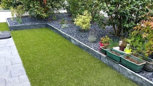 bordure de jardin en ardoise bordure