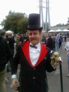 Oasis Beer Guy in Top Hat