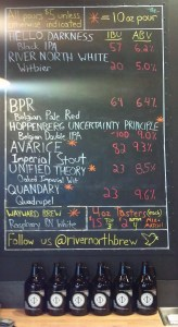 River North Brewing Beer Menu