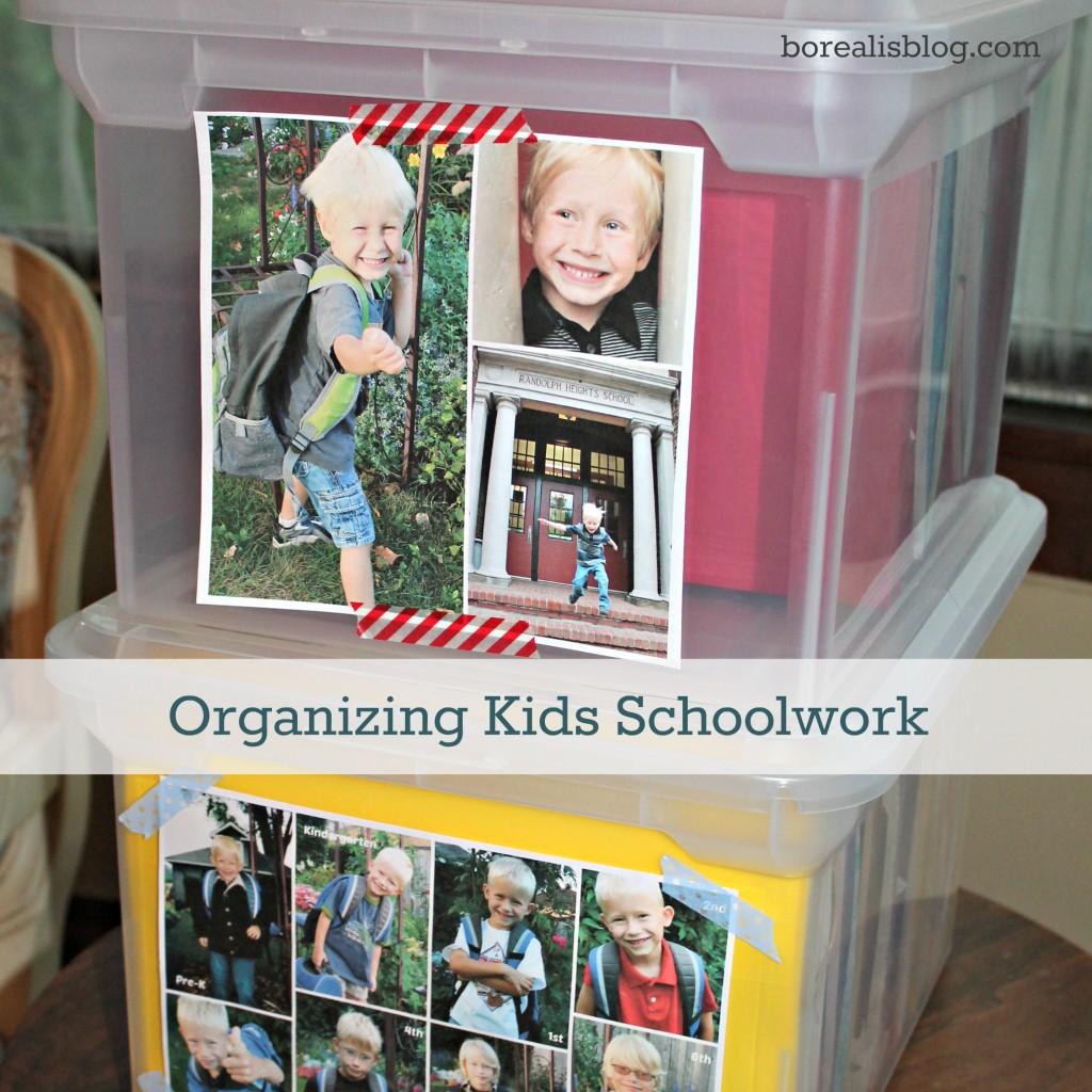 How To Organize Kids School Work
