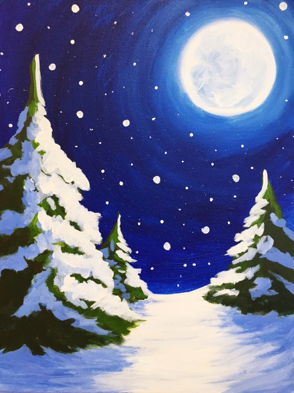 40 Original Winter Paintings On Canvas Bored Art