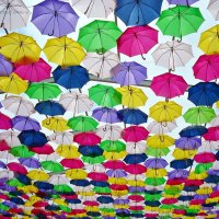 Umbrellas Float Above The Streets #Art4all